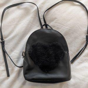 Black Heart Mini Backpack